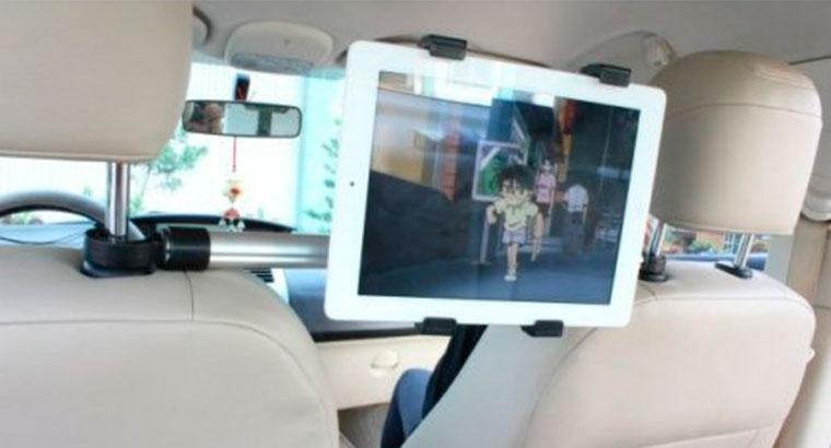 Barra soporte tableta para el coche